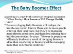 the baby boomer effect