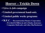 hoover trickle down
