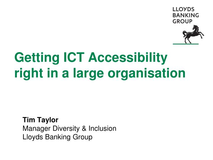 getting ict accessibility right in a large organisation n.