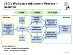 lbg s workplace adjustment process overview