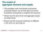 the model of aggregate demand and supply
