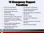 15 emergency support functions