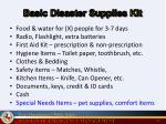 basic disaster supplies kit