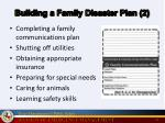 building a family disaster plan 2