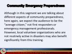 community emergency preparedness