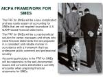 aicpa framework for smes2