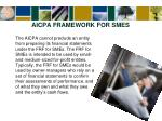 aicpa framework for smes4