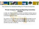 key events for standard setting for private companies