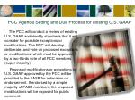 pcc agenda setting and due process for existing u s gaap
