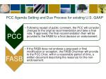 pcc agenda setting and due process for existing u s gaap1