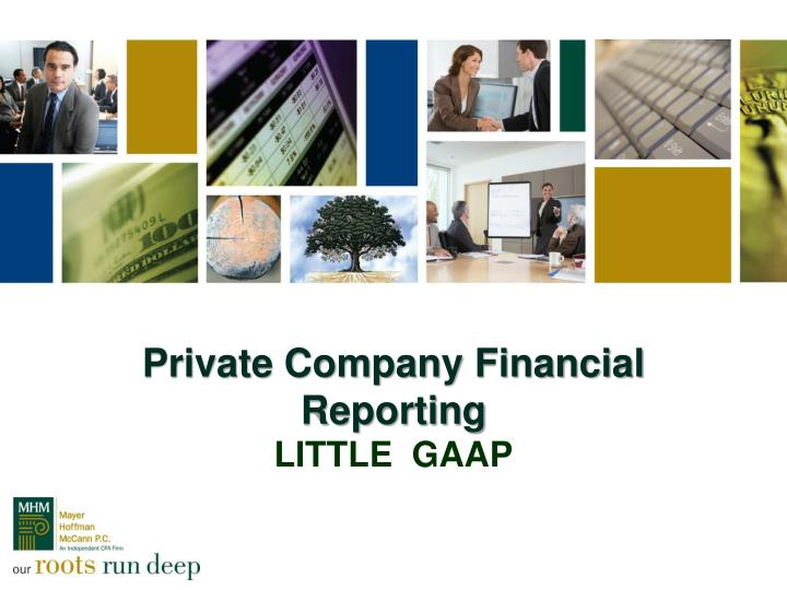 private company financial reporting little gaap n.