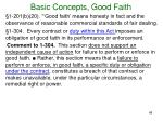 basic concepts good faith2