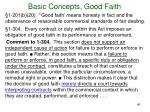 basic concepts good faith3