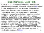 basic concepts good faith4