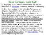 basic concepts good faith5