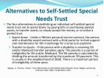 alternatives to self settled special needs trust