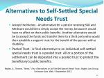 alternatives to self settled special needs trust1
