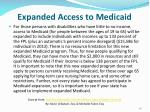 expanded access to medicaid