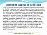 expanded access to medicaid1