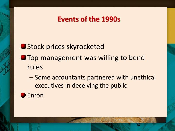 Events of the 1990s