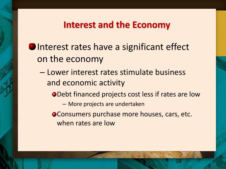 Interest and the Economy