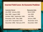 inverted yield curve an economic predictor