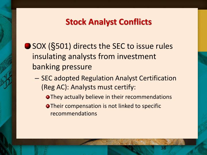 Stock Analyst Conflicts