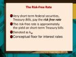 the risk free rate