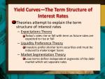 yield curves the term structure of interest rates1