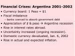 financial crises argentina 2001 2002