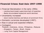 financial crises east asia 1997 1998