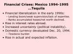 financial crises mexico 1994 1995 tequila