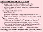 financial crisis of 2007 2009