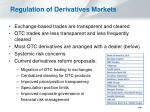 regulation of derivatives markets