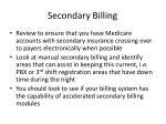 secondary billing
