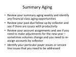 summary aging