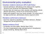 environmental policy evaluation