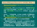 about jpmorgan chase co nyse jpm 5