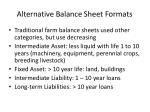 alternative balance sheet formats