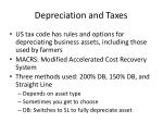 depreciation and taxes