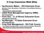 5 crop insurance web sites