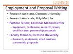 employment and proposal writing