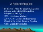 a federal republic