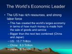the world s economic leader
