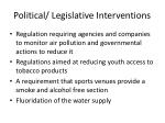 political legislative interventions1