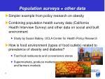 population surveys other data1