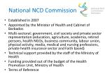 national ncd commission