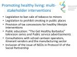 promoting healthy living multi stakeholder interventions