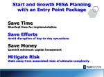 start and growth fesa planning with an entry point package