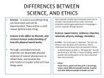 differences between science and ethics
